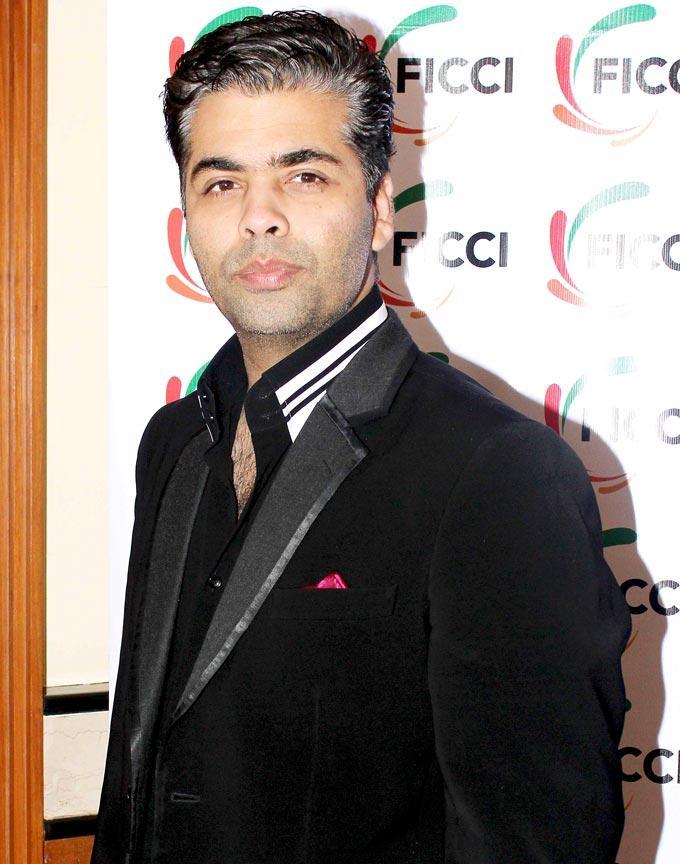 Karan Johar Handsome Look At The FICCI Frames 2013 Press Conference
