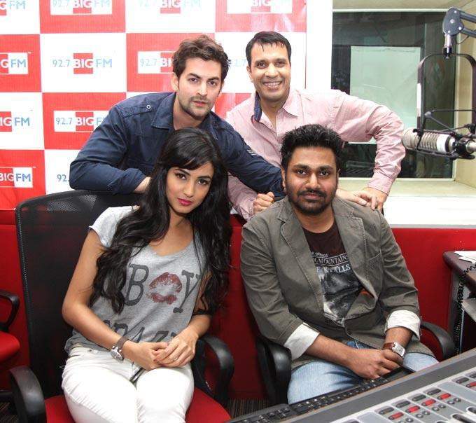 Neil And Sonal At 92.7 FM Radio During Promoting Of 3G Movie Music