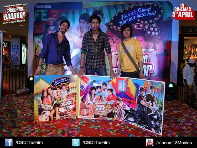 Guests With The Audio Cds At Chashme Baddoor Music Launch