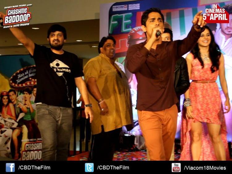 Wajid Ali,Ganesh,Siddharth And Taapsee Address The Audience At Chashme Baddoor Music Launch