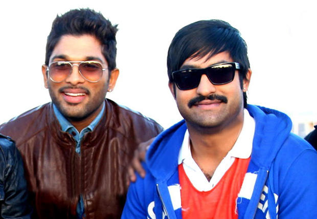 Allu Arjun And Jr. NTR Clicked A Photo On The Shooting Sets In Spain
