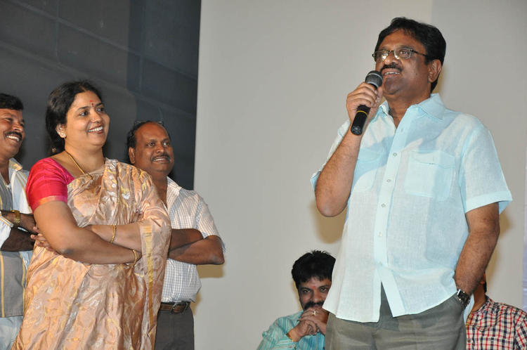 A Guests Speak Out While Jeevitha Looks In At Mahankali Movie Trailer Launch