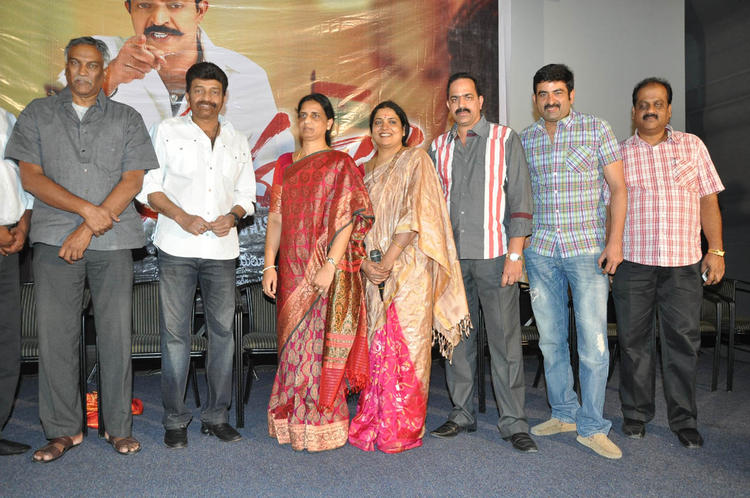 Rajasekhar,Jeevitha And Y Surendra Posed Fpor Camera At Mahankali Movie Trailer Launch