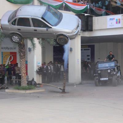 A Car Blast As A Parts On The Sets Of Shootout At Wadala