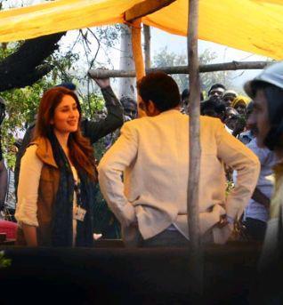 Kareena Kapoor Khan On The Sets Of Satyagraha Movie