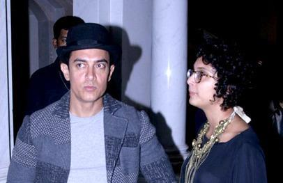 Aamir And Kiran Photo Clicked At Indo French Film Festival