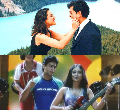 Rani Mukerji,Shahrukh Khan,Preity And Hrithik Photo Still From Their Movie