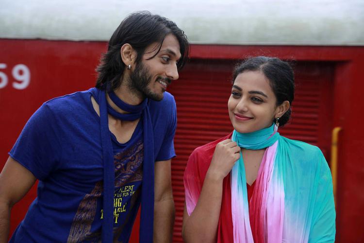 Chetan And Nithya Smiling Look Still From Mynaa Kannada Movie