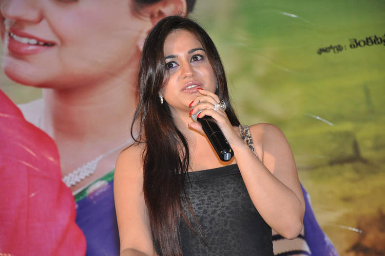 Aksha Pardasany Speaking Still At Rye Rye Platinum Disc Function