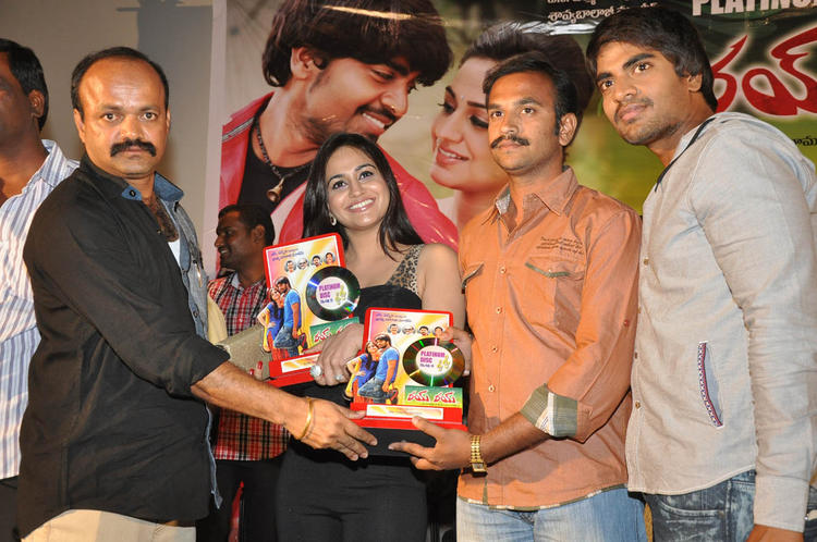 Srinivas And Aksha Pardasany At Rye Rye Platinum Disc Function