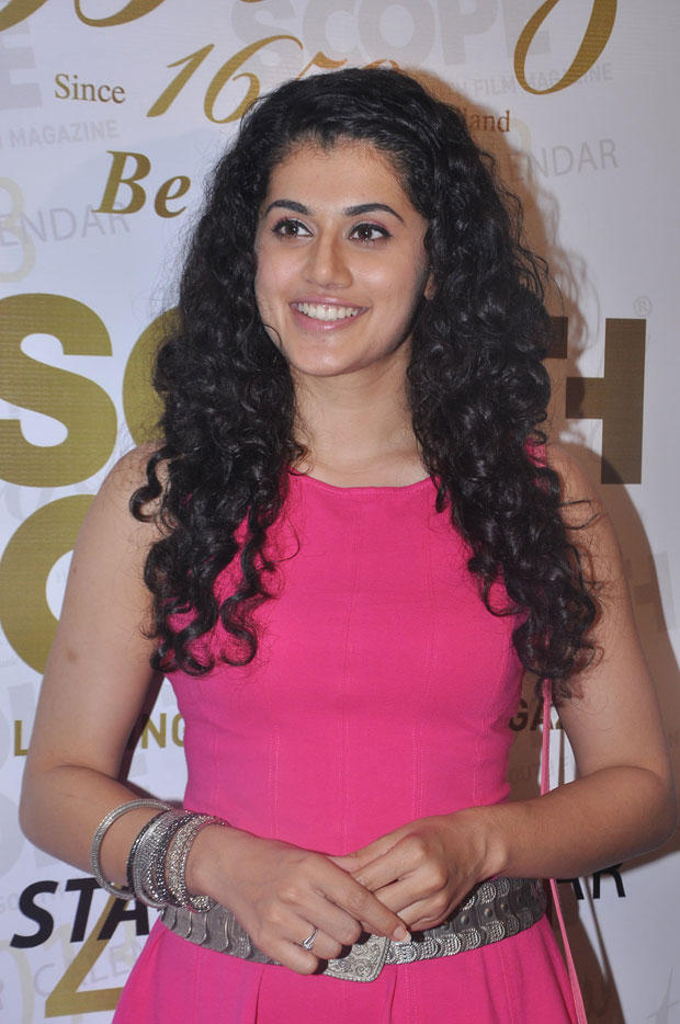 Taapsee Pannu Dazzles In Pink Dress At South Scope Calendar Launch 2013
