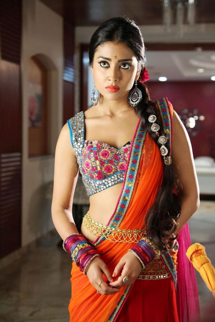 Shriya Saran Looked Hot In Saree In Movie Pavitra