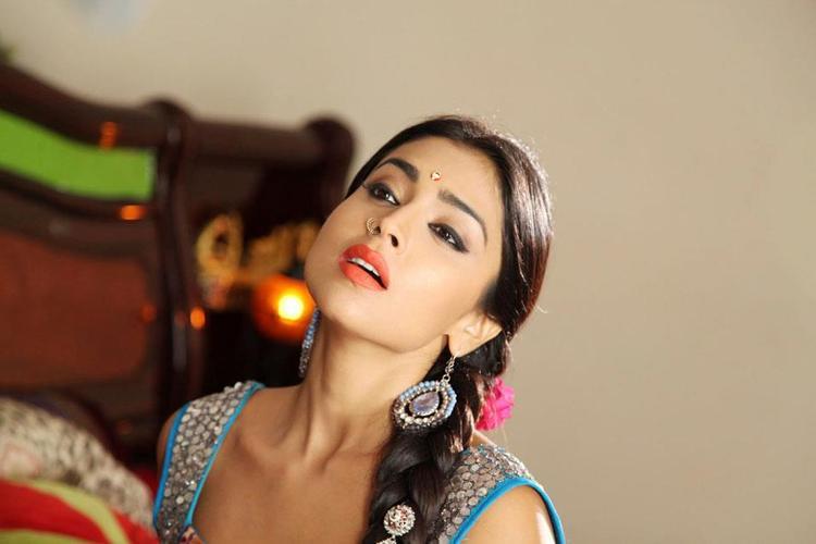 Shriya Sexy Expression Photo Still From Movie Pavitra
