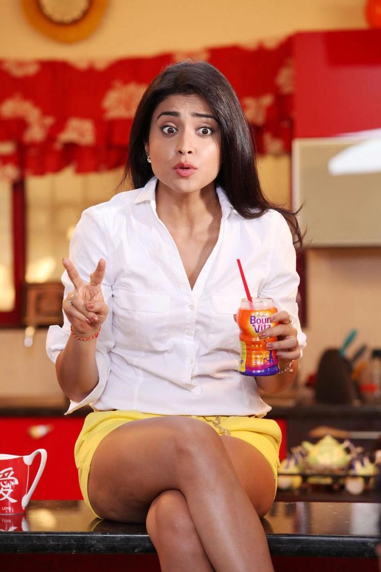 Shriya Saran In A Astonished Look Photo Still From Movie Pavitra