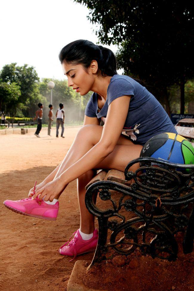 Shriya Saran Shoe Less Binding Photo Still From Movie Pavitra