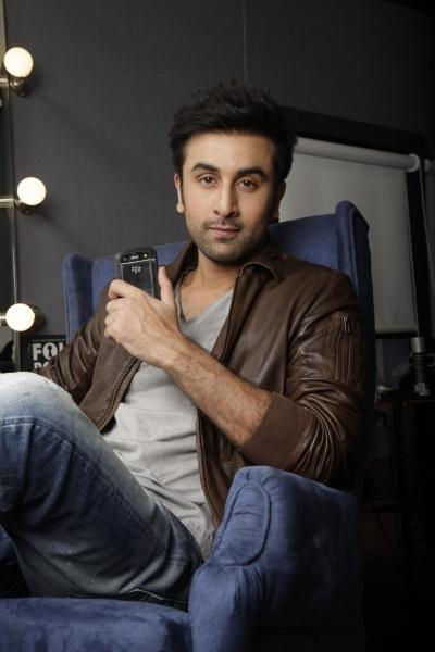 Ranbir Kapoor Photo Shoot With BlackBerry Cell For BlackBerry India Print Ad