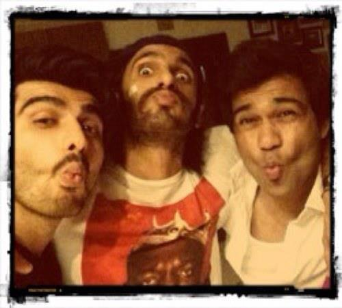 Ranveer And Arjun Fun Pose For Camera On The Sets Of Film Gunday