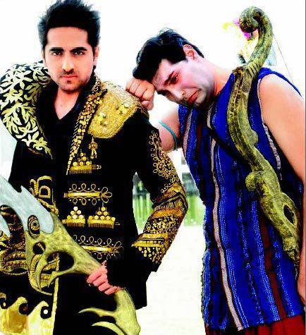 Ayushmann And Kunaal Cute Expression Photo Still From Movie Nautanki Saala