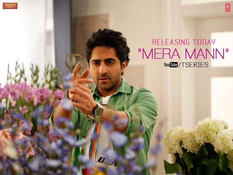 Ayushmann Nice Look Photo Still From Movie Nautanki Saala