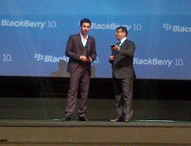 Ranbir Kapoor Photo Clicked At The Launch Of Blackberry Z10