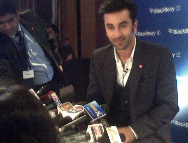 Ranbir Kapoor Snapped At The Launch Of Blackberry Z10