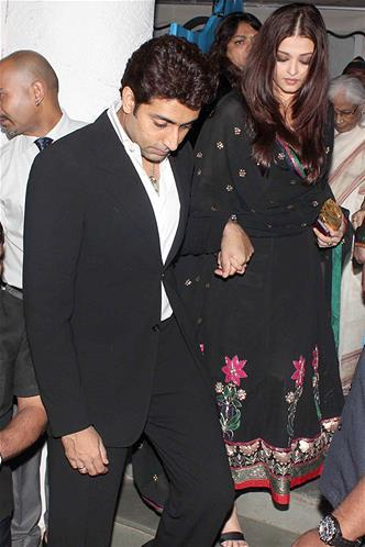 Abhishek With Wife Aishwarya Spotted At Sanjay Leela Bhansali Birthday Bash