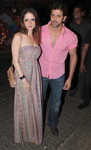 Hrithik With Wife Suzanne Arrived At Sanjay Leela Bhansali Birthday Bash