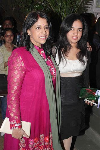 Kavita With A Friend Smiling Photo Clicked At Sanjay Leela Bhansali Birthday Bash