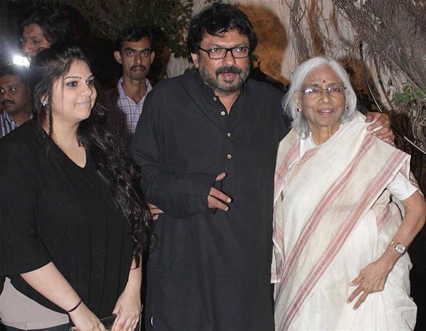 Sanjay With Mother Leela Bhansali Snapped At His Birthday Bash
