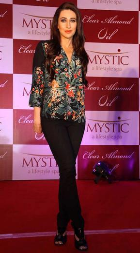 Karisma Kapoor During The Launch Of Mystic Clear Almond Oil