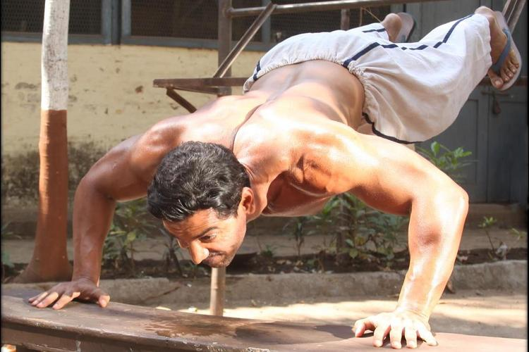 John Abraham Push Up Photo Still From Movie Shootout At Wadala