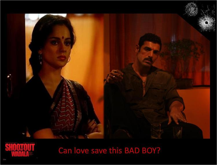 John And Kangna Latest Photo Still From Movie Shootout At Wadala