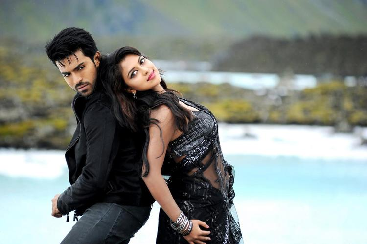 Ram Charan And Amala Awesome Dance Photo Still From Movie Naayak