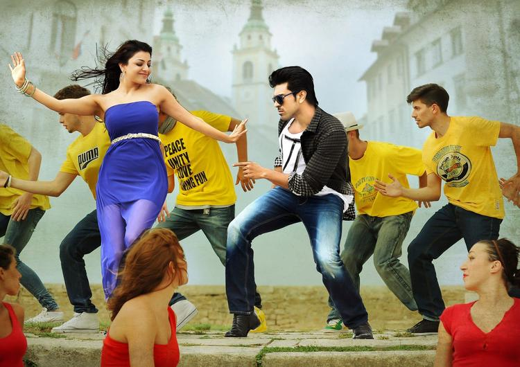 Ram Charan And Kajal Song Photo Still From Movie Naayak