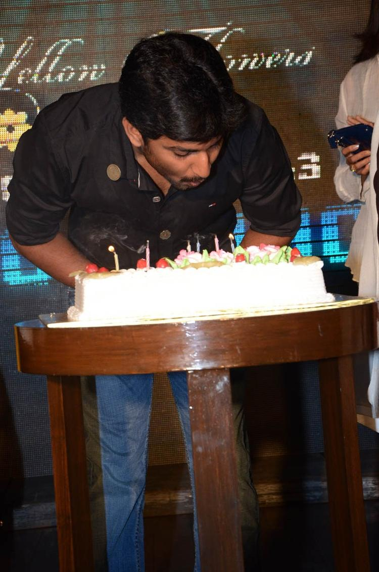 Nani Blows Off The Candle On His Birthday At Paisa Movie Logo Launch Function