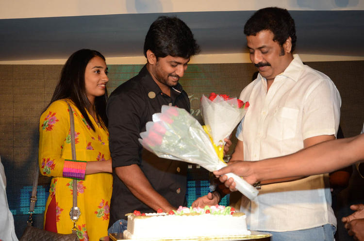 Nani With His Wife Anjana On His Birthday Party At Paisa Movie Logo Launch Function