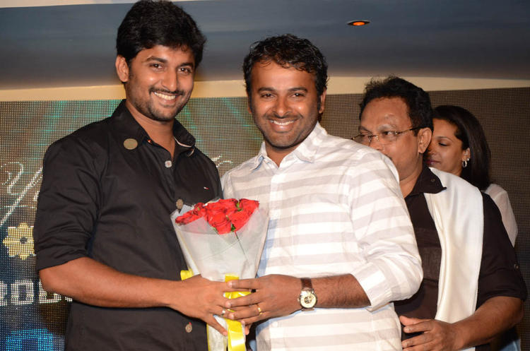 Nani Smiling Look On Actor Nani Birthday Party At Paisa Movie Logo Launch Function