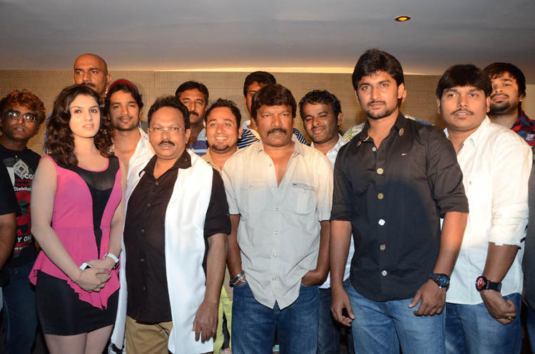 Nani,Ramesh,Sidhika And Others Posed On Actor Nani Birthday Party At Paisa Movie Logo Launch Function
