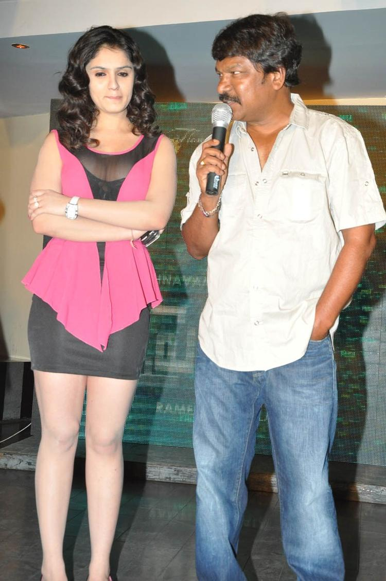 Director Krishna Vamsi And Lucky Present At Paisa Movie Logo Launch Function