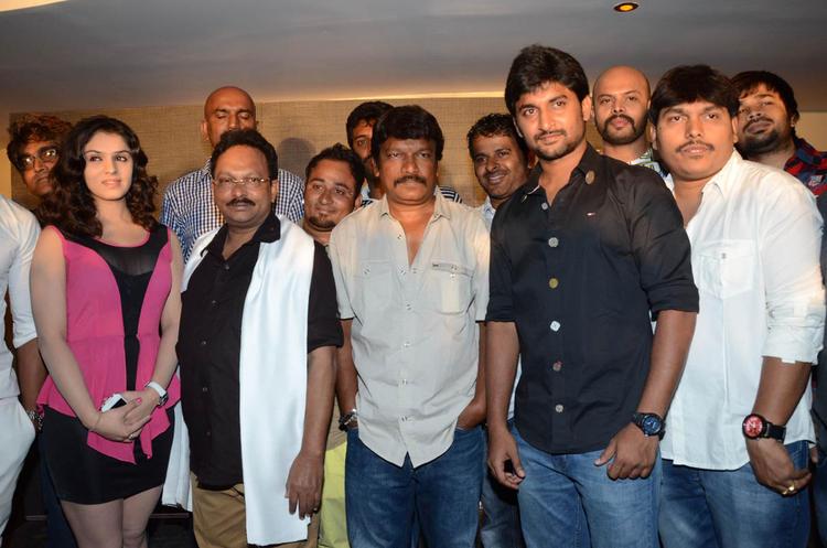 Lucky,Ramesh,Krishna Vamsi And Nani Posed For Camera Paisa Movie Logo Launch Event