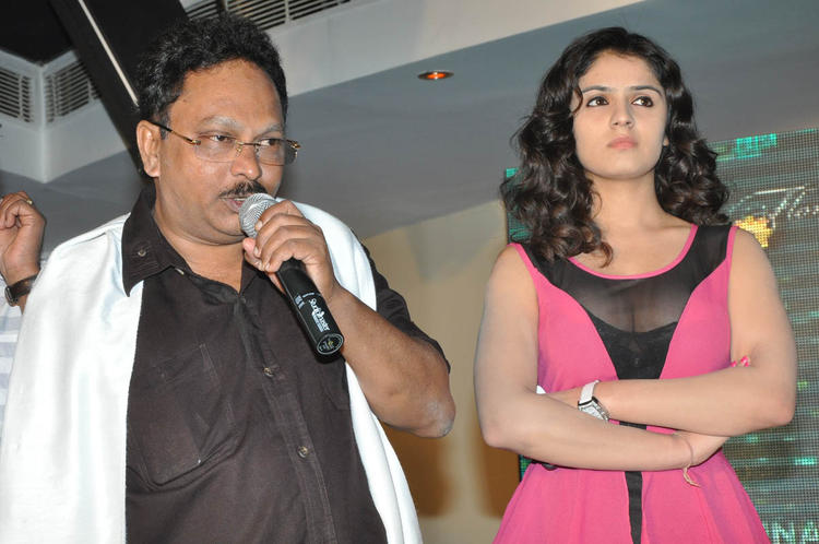 Ramesh Speaks And Actress Lucky Looks On At Paisa Movie Logo Launch Function