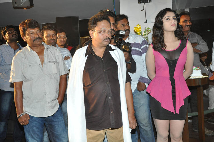 Ramesh,Lucky And Krishna Vamsi During The Paisa Movie Logo Launch Function