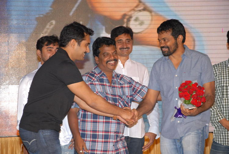 Uday Shakehand With Sukumar Photo Clicked At Jai Sriram Audio Launch Function