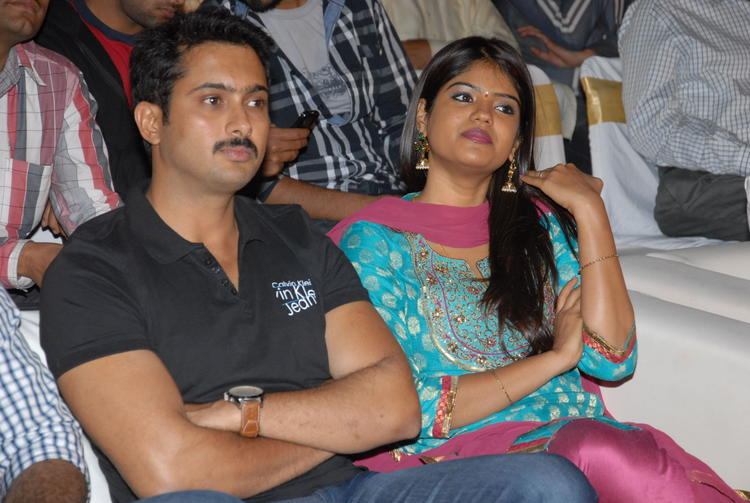 Uday With Wife Vishitha At Jai Sriram Audio Launch Function