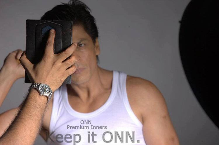 Shahrukh Comb Photo Ad For Lux Cozi ONN