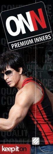 Shahrukh Khan Bicep Show Photo Ad For Lux Cozi ONN