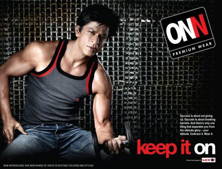 Shahrukh Khan Cute Look Pose Ad For Lux Cozi ONN