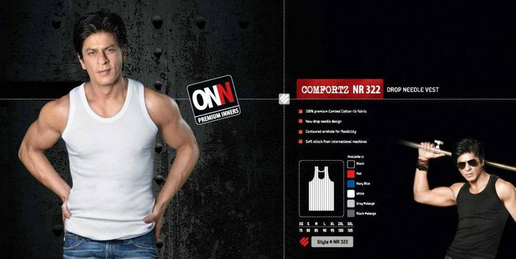 Shahrukh Khan Dashing Look Photo Ad For Lux Cozi ONN