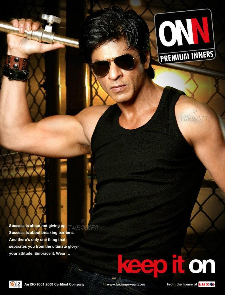 Shahrukh Khan Handsome Look Photo Ad For Lux Cozi ONN