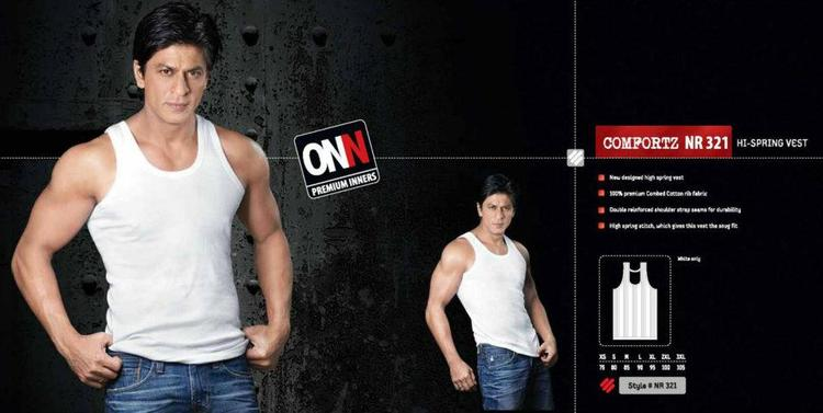 Shahrukh Khan In High Spring Vest Ad For Lux Cozi ONN